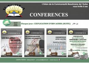 Cycle de Conférences animées par Cheikh Yahya Al MAdaghri