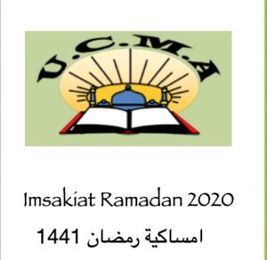 IMSAKIATES RAMADAN 2020