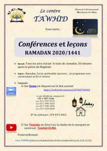 Programme UCMA – Ramadan 2020